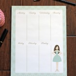 Weekly Calendar Notepad