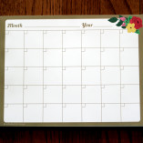 Flora Monthly Calendar Notepad